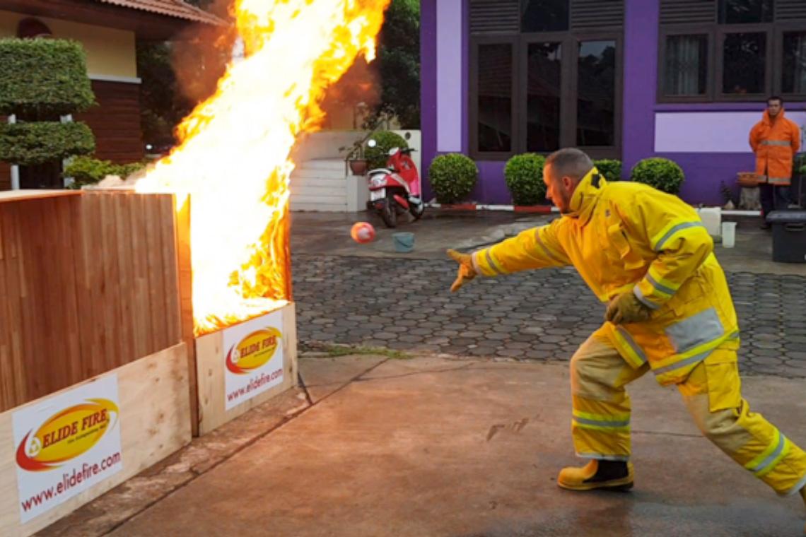 ทดสอบ ``ลูกบอลดับเพลิง`` #1