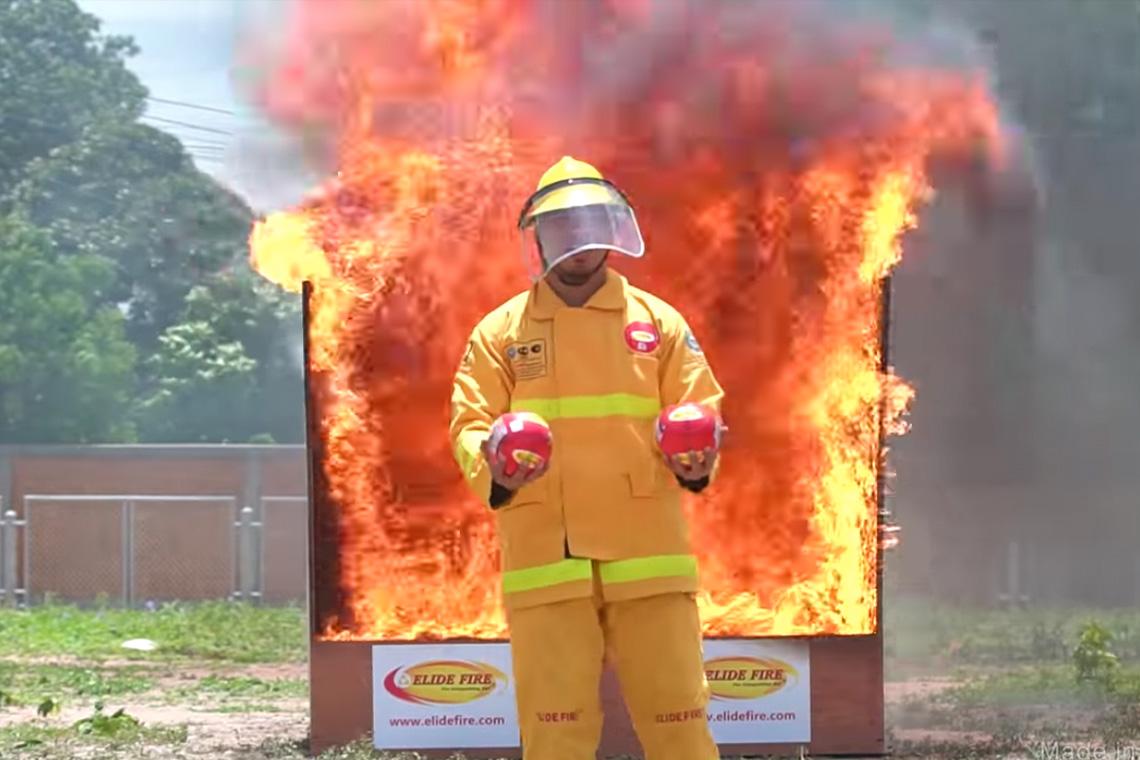 ทดสอบ ``ลูกบอลดับเพลิง`` #2