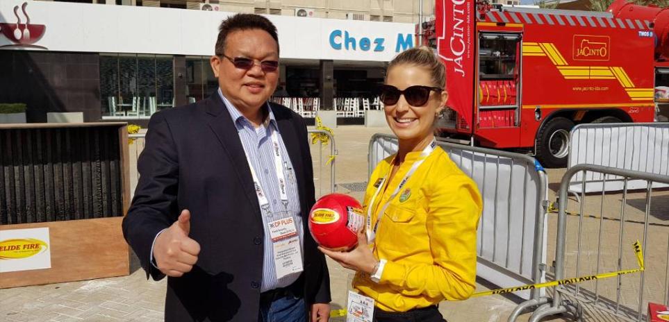 """ขอขอบคุณข่าวจาก MGR ONLINE  """"นักประดิษฐ์ไทย เจ๋ง สร้าง """"ลูกบอลดับเพลิง""""ติด 1 ใน 100 เทคโนโลยีระดับโลก"""""""